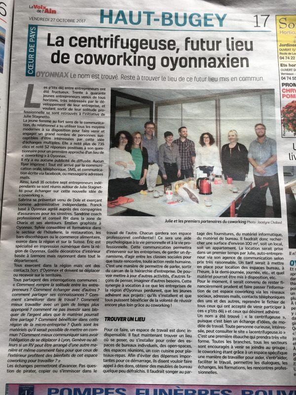 espace coworking à Oyonnax